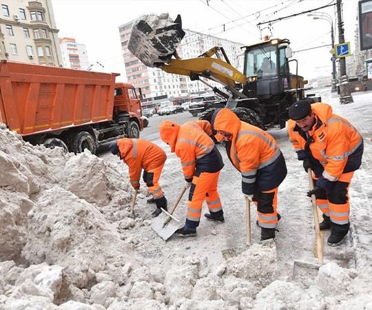 Уборка снега в Томске и Томской области